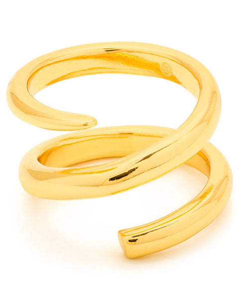gorjana twisting gold ring cayne