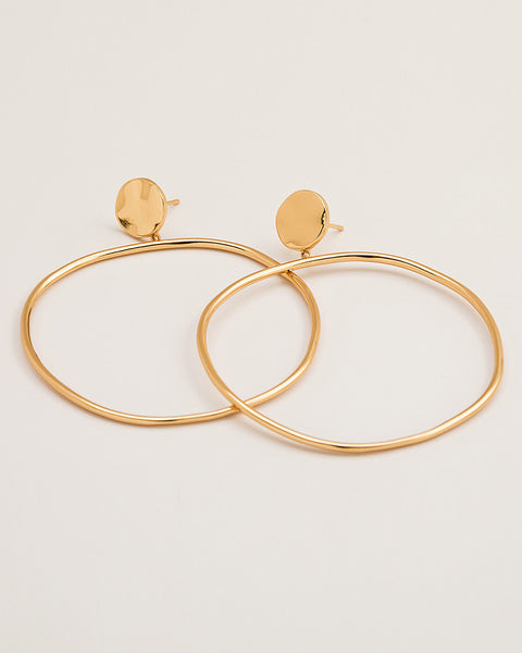 chloe gold round hoop earrings drop