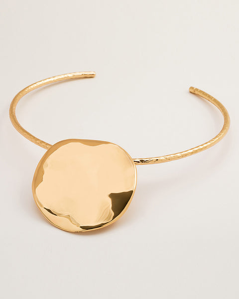 gorjana chloe statement collar necklace gold