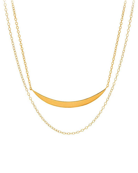 gorjana crescent layered chain necklace