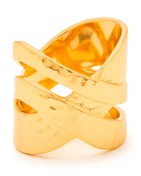 Gorjana gold criss cross ring