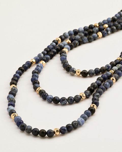 dakota wrap necklace beaded gold sodalite gorjana designer