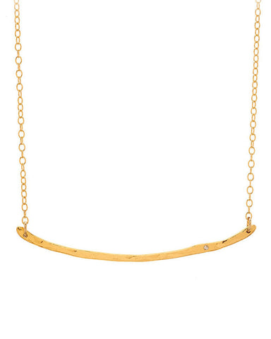 Gorjana Diamond Taner Bar Necklace