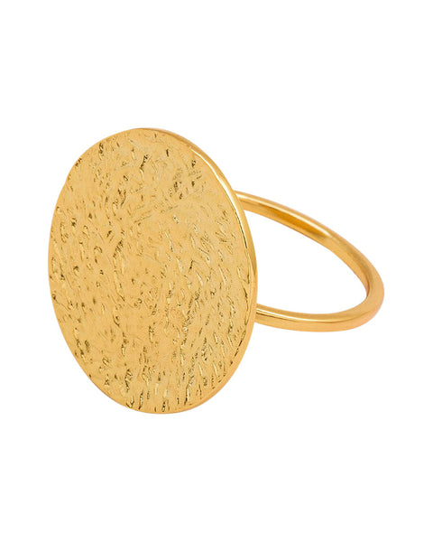 gorjana faye ring gold disc