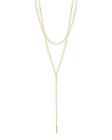 Gorjana Nina Layered Lariat in Metallic Gold 12hO0qvvZ