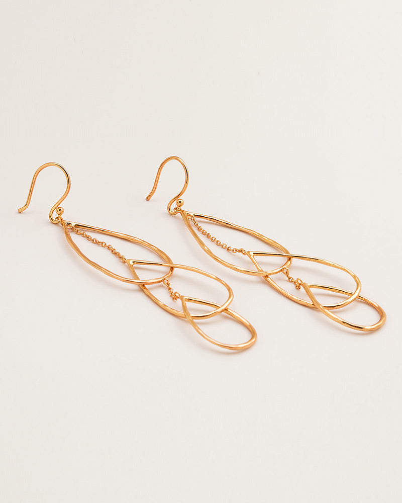 interlocking gold statement earrings gorjana womens jewerlry fashion