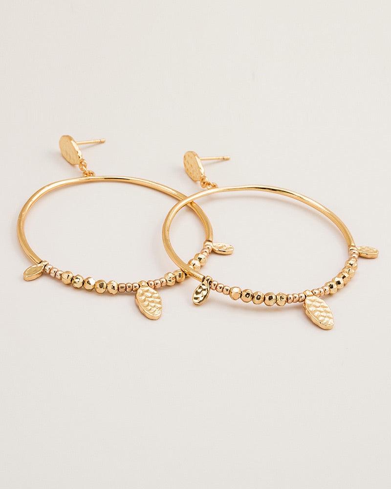 round circular drop hoop earrings gorjana