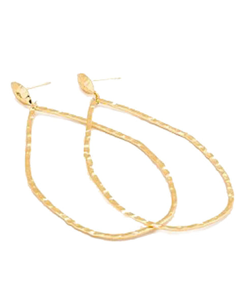 gold lola drop hoop earrings gorjana