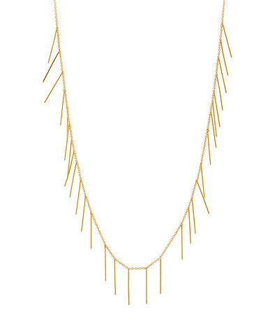 Gorjana Marmont Fringe Gold Necklace