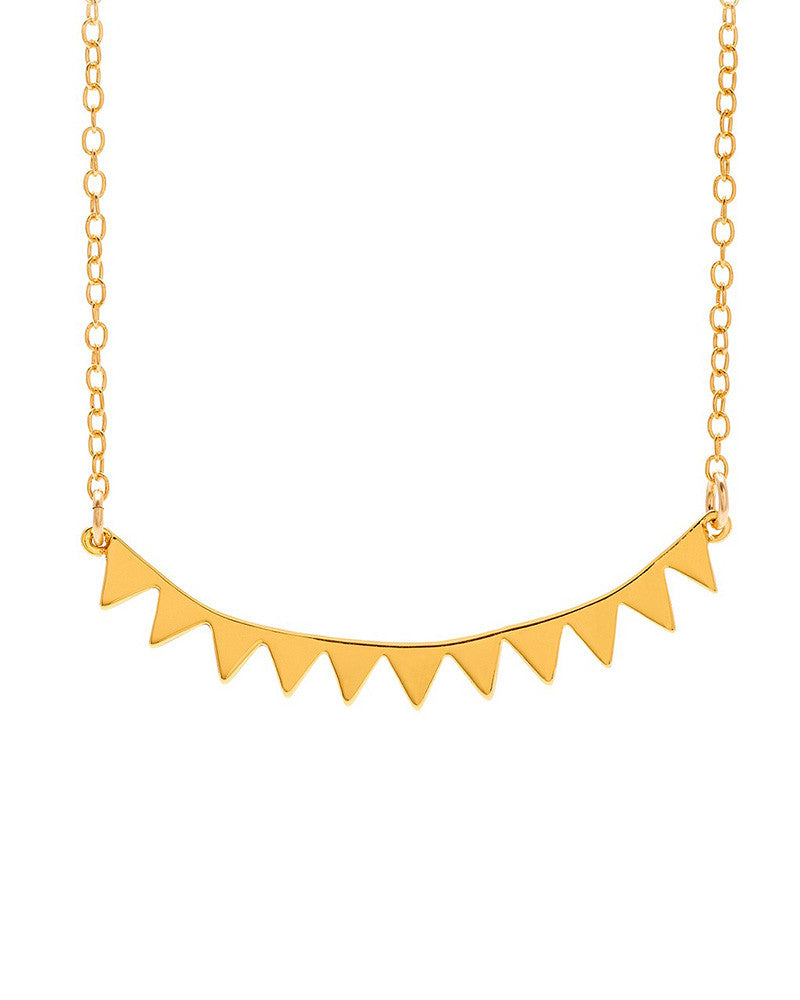 Gorjana Mika Mini Gold Plate Necklace