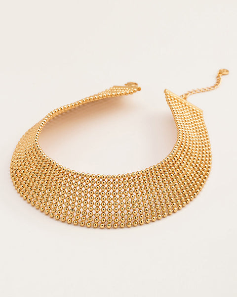 choker gold statement necklace