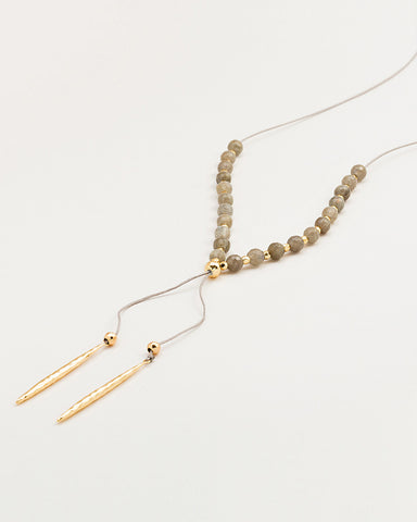 gold labradorite beaded necklace gorjana