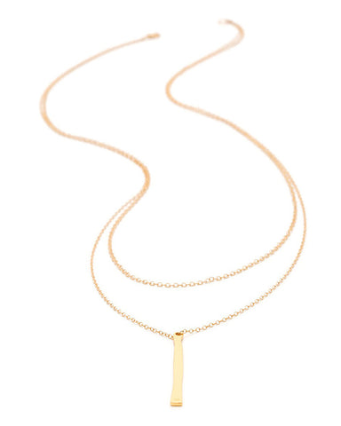 Gorjana Gold Bar Layered Necklace Full