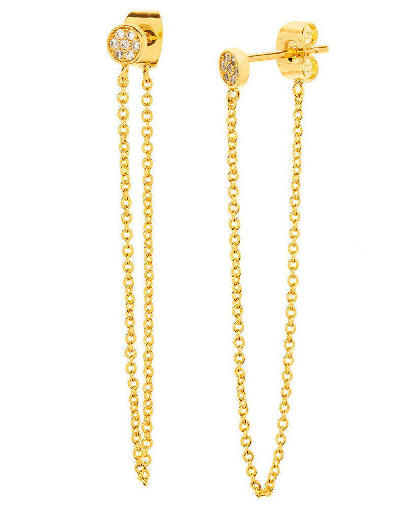 gold chain loop from stud earrings gorjana
