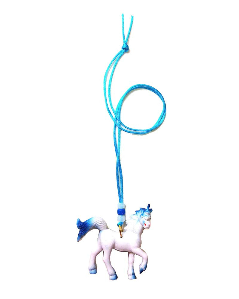 Gunner and Lux Azul the Unicorn Necklace