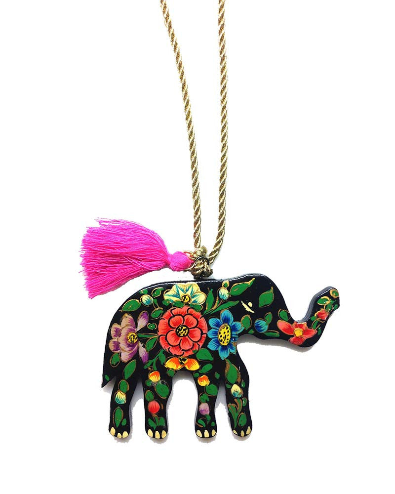 Gunner and Lux baby Elephant Hand-Painted Necklace