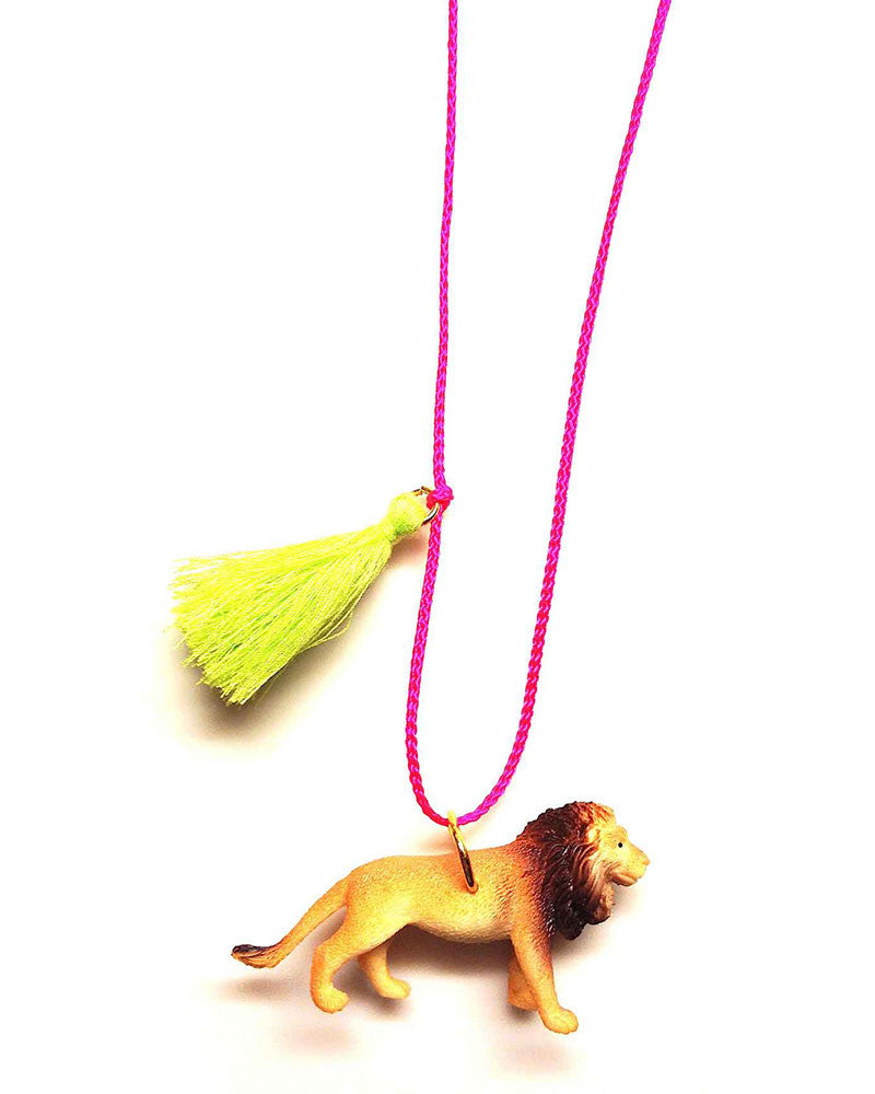Gunner and Lux Lenny the Lion Handmade Childrens Necklace