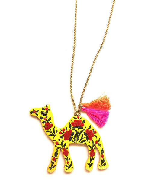 Gunner and Lux Mama Camel Hand-Painted Necklace