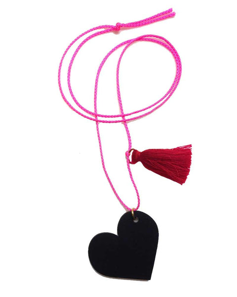 Childrens Valentines Heart Chalkboard Necklace Little Lux