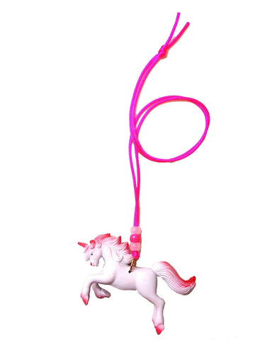Gunner and Lux Rosado the Unicorn Necklace