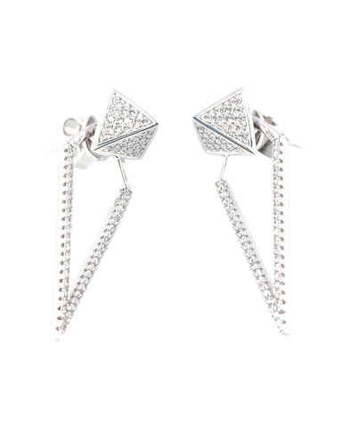 Gina Cueto Silver Earrings Iris