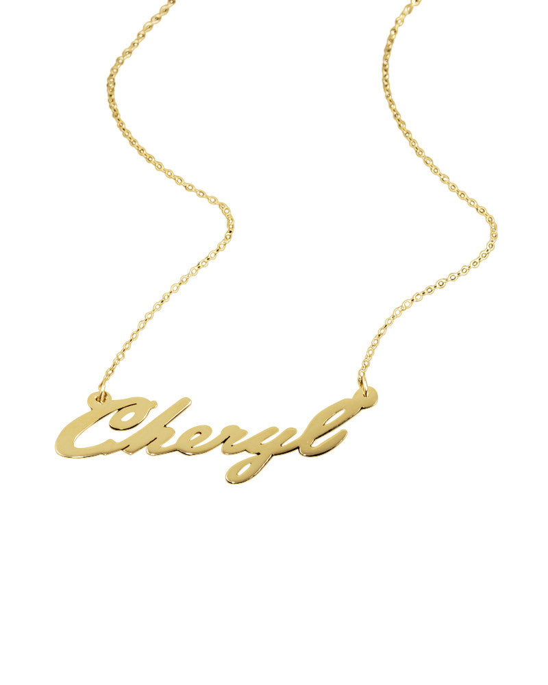 Italic Gold Nameplate Personalized