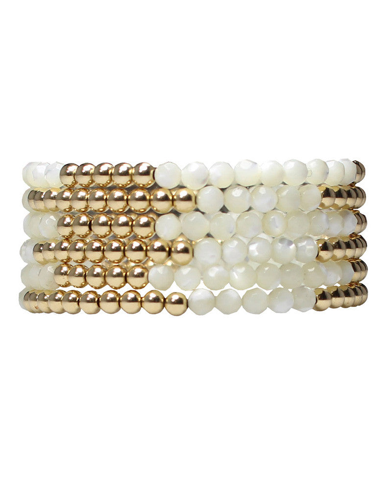 pearl jaimie nicole bracelets beaded white gold jewelry womens