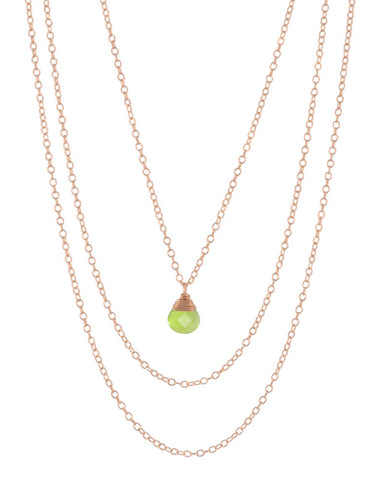 August Birthstone Necklace Peridot