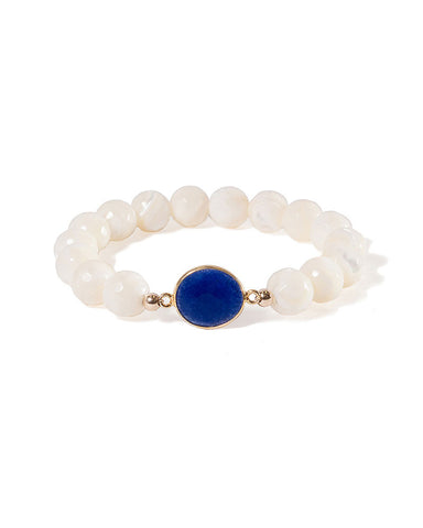Jaimie Nicole Mother of Pearl with Sapphire Bracelet