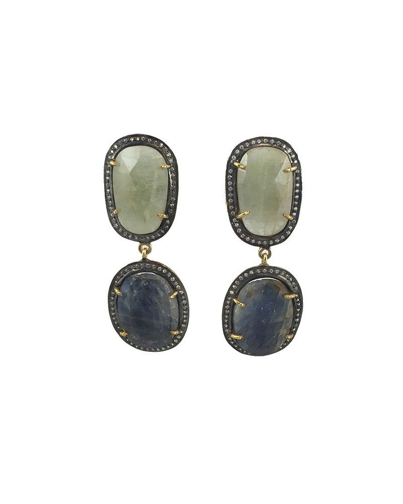 Jaimie Nicole Blue Green Sapphire Earrings