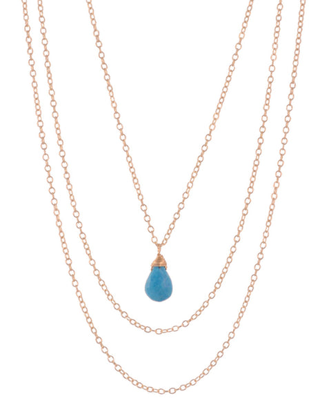 December Turquoise Birthstone necklace