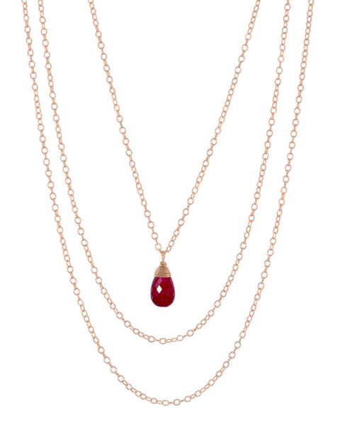 july ruby birthstone necklace