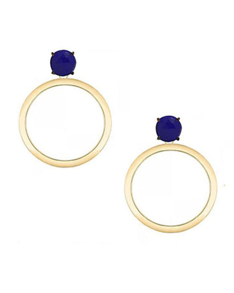 lapis gold circle hoop earrings jaimie nicole jewelry earrings