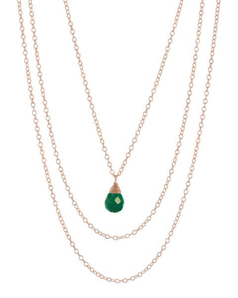may emerald birthstone necklace