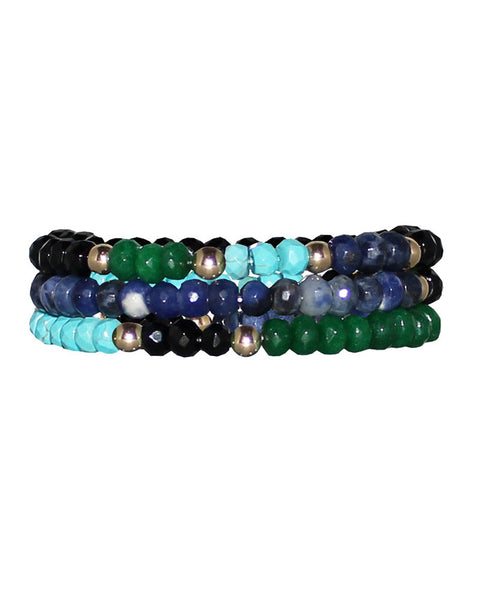 jaimie nicole mixed blues bracelet set