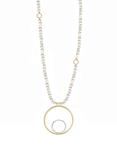 Jaimie Nicole necklace pearl jewelry long hanging circle gold