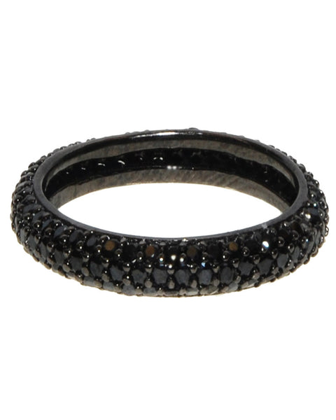 jaimie nicole black pave ring