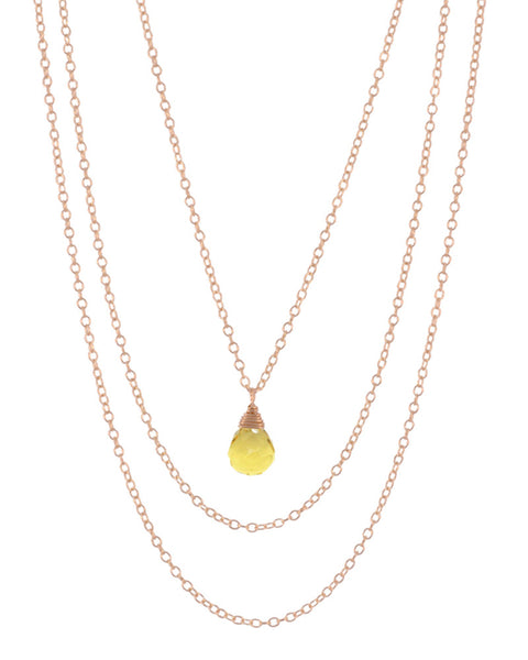 november birthstone necklace citrine