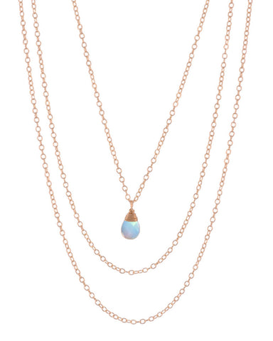october opalite birthstone necklace