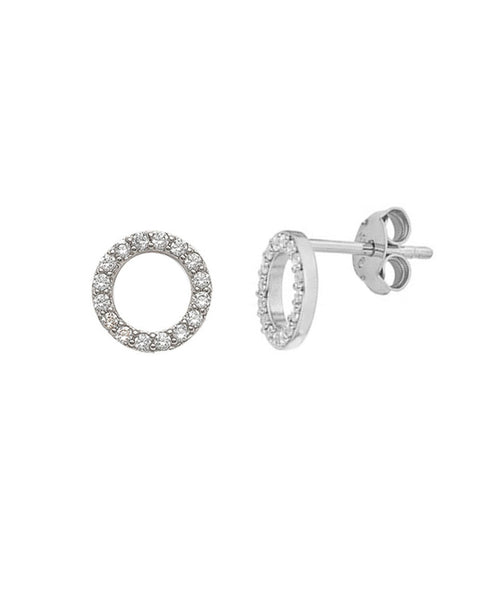 silver stud earrings hoops shiny jaimie nicole jewelry for women