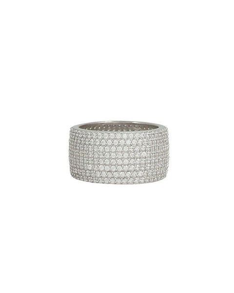 silver thick ring designer jaimie nicole band shiny stylish
