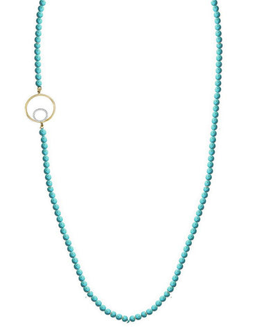 long necklace light turquoise slim cute pretty jaimie nicole