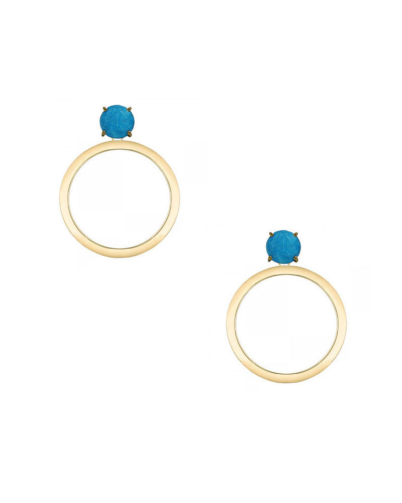 turquoise earrings designer jaimie nicole hoops gold