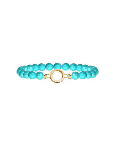 turquoise designer bracelets womens ladies girls casual gold circles