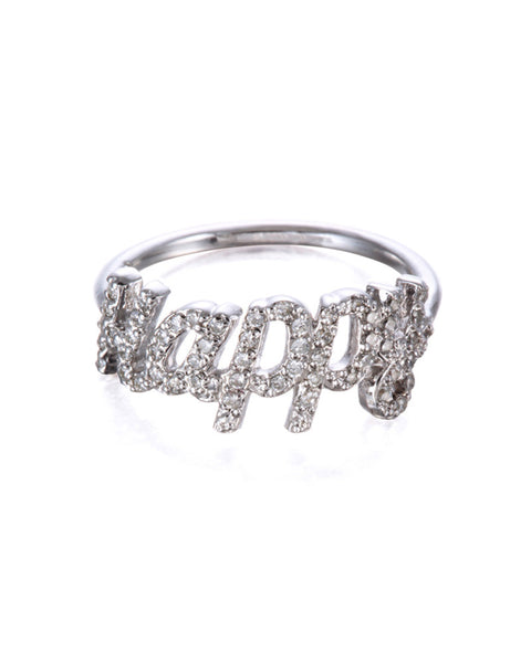 silver ring that says happy Jamie Park