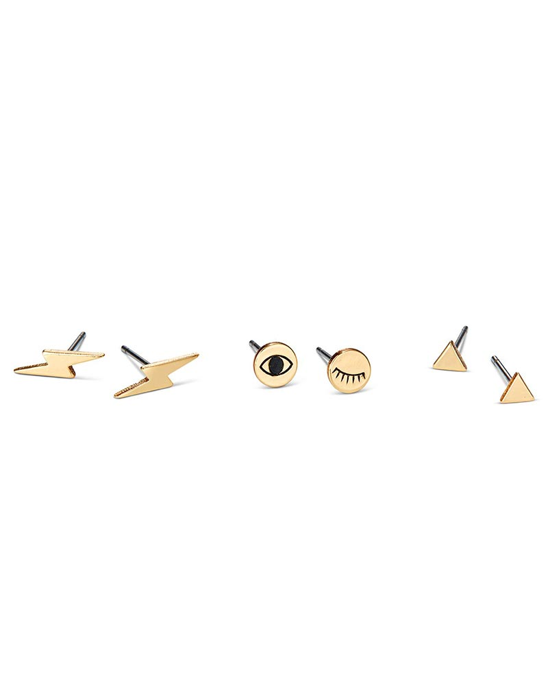 jenny bird earrings stud set gold designer jewelry