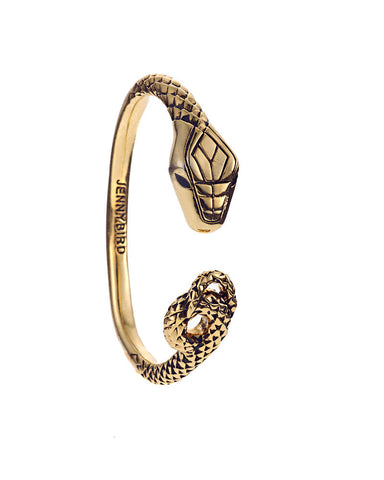 Jenny Bird Kundali King Gold Serpent Bangle
