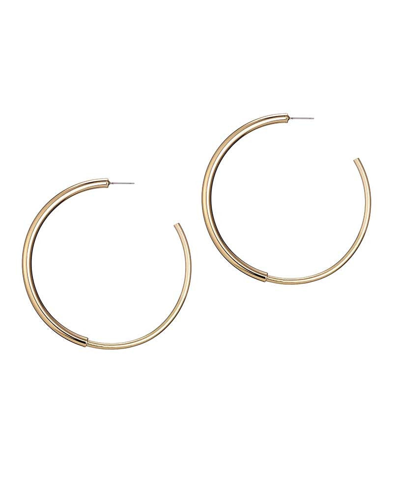The Loops Earrings in Metallic Gold JENNY BIRD q9G9ybMr9