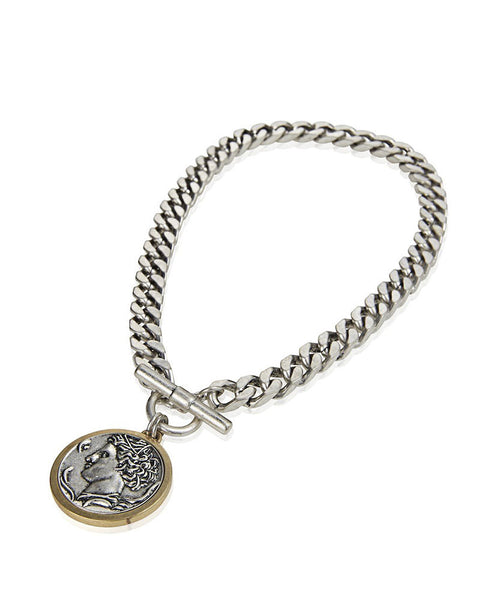 Silver Jenny Bird Coin Necklace Arethusa Medallion