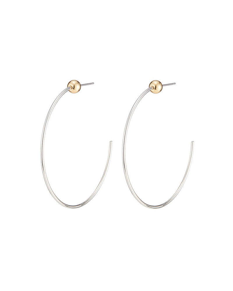 silver icon hoops jenny bird with gold